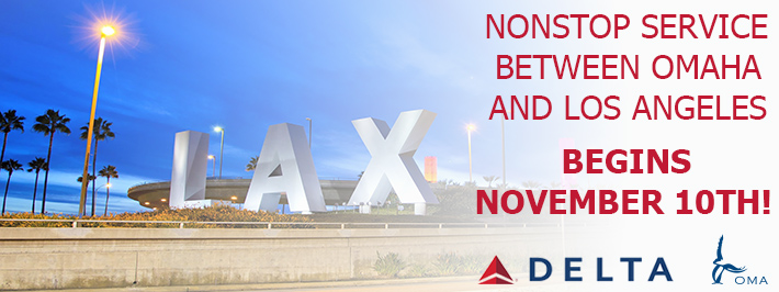 Nonstop Service Between Omaha and Los Angeles begins November 10th!