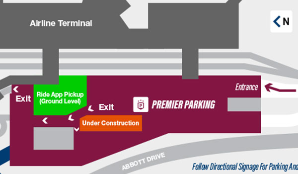 Thumbnail of the map to premier parking.
