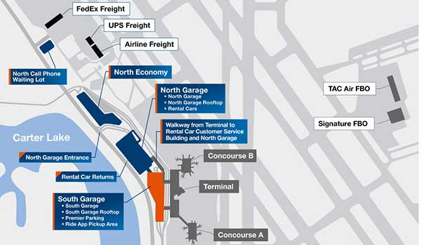 Eppley Airfield Overview Thumbnail Map